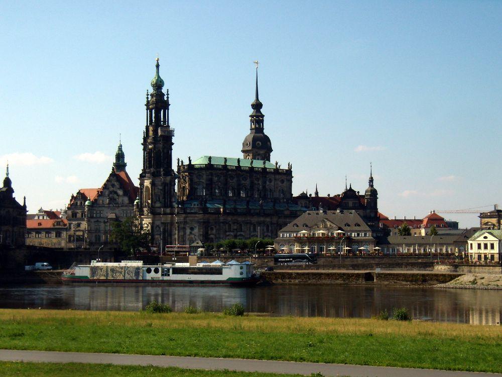 Vista di Dresda