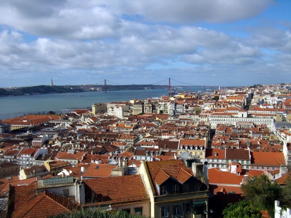 Lisbona, vista dal castello di San Jorge