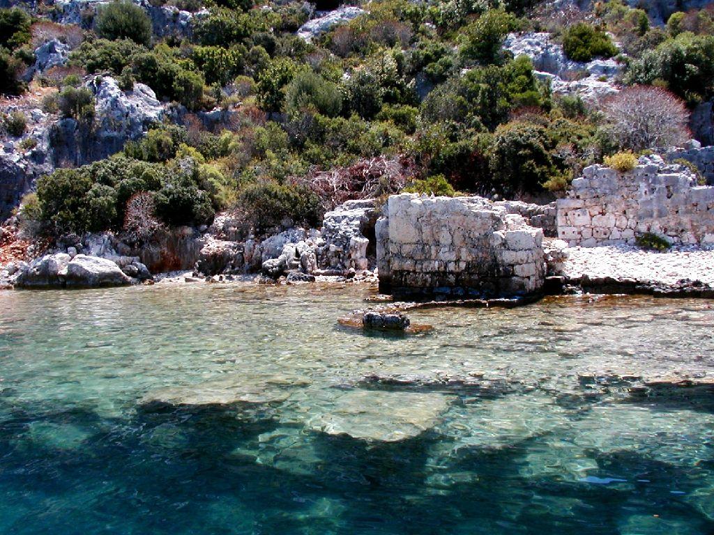 Isola di Kekova, l'antica città sommersa e la costa