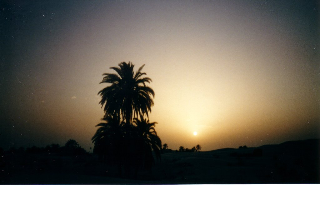Tramonto nel Sahara