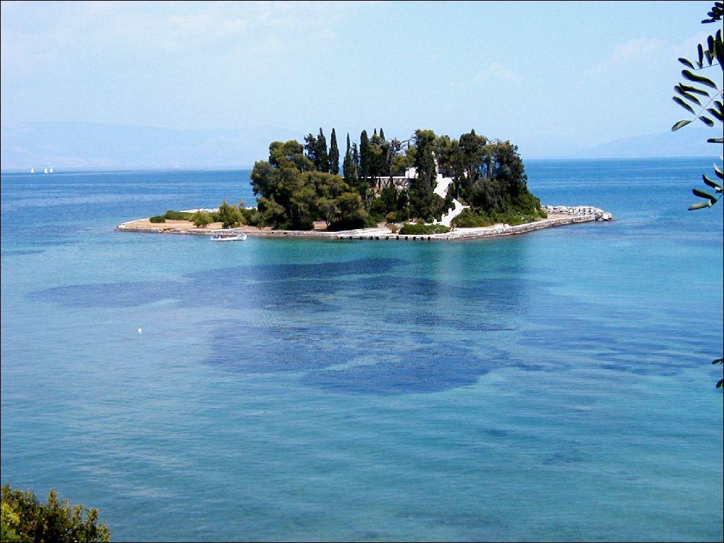 Isola vicino a Kanoni